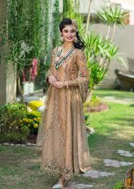 New Design Pakistani Dresses 2017 Latest Pakistani Designer Dress 2017 Peach Party Wear Maxi