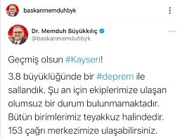 Kayseri'deki deprem - Haberler