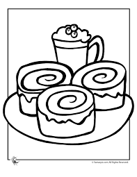 Small Picture Hot Chocolate and Sticky Buns Coloring Page Woo Jr Kids Activities