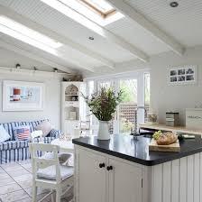 Coastal Kitchen Design With Modern Space Saving Design Coastal ...