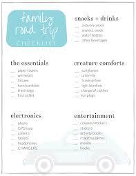 Family Road Trip Checklist A Free Printable The Crazy