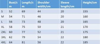 Size Chart For Table Tennis Clothing And Footwear Tibhar