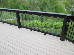 Decking Tempered Glass Railings Glass Deck Railing Glass Deck Glass Deck Railing Home Depot