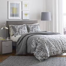 amazoncom city scene 215672 branches gray cotton comforter set fullqueengray home u0026 kitchen cotton comforter queen o12