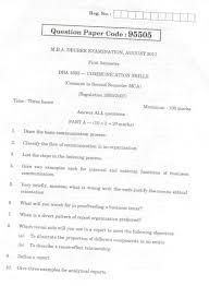 anna university mba communication skills question paper  anna university 1st sem communication skills exam paper