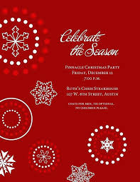 Christmas Lunch Invitation Template Holiday Invite Templates Word