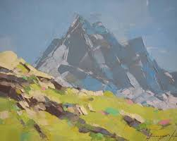 saatchi art landscape switzerland alps original oil painting impressionism painting by palette knife painting by vahe yeremyan