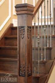 Custom Newel Post Newel Post Collection Flora Fauna Style Acanthus Dimensions 5