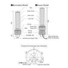 smooth body stack light 70mm signal light tower andon signal light patlite lu7 dimensions diagram