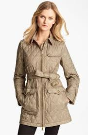 Cinched Waist Quilted Jacket | Burberry | Things I Would Like To ... & Burberry Brit 'Topstead' Quilted Jacket available at Adamdwight.com