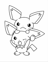 Small Picture Bestofcoloringcom Baby Pikachu Printable For Kids Throughout