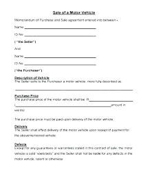 Used Car Sale Agreement Template Contract For Selling A Car With Payments Auto Sale Agreement