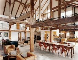 This spectacular space  an 1800's English barn converted into a country  vacation home by architect Preston Scott Cohen  serves a literary couple  and their ...