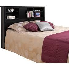 Hydraulic Bed Frame   Queen Storage Bed with Bookcase Headboard   Oak  Headboard King