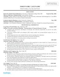 Resume Template Investment Banking Resume Example Investment Banker