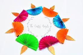 Happy Diwali Paper Graphic Indian Rangoli Stock Vector Paper