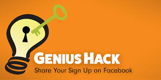 Genius Hack Share Your Sign Up On Facebook