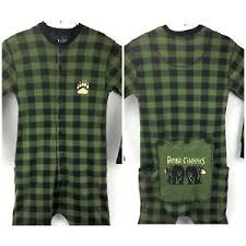 Lazy One Size Chart Details About Lazy One Bear Cheeks Flapjack Long Johns One Piece Pajamas Adult Size Med Green