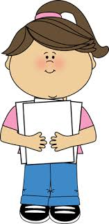 holding paper clipart 14