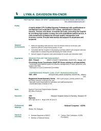 Entry Level Registered Nurse Resume Registered Nursing Resume Entry