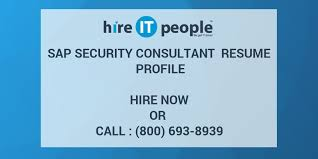 Sap Security Consultant Resume Profile Hire It People We Get It Done