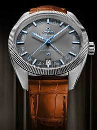omega mens globemaster brown leather strap watch 130 33 41 22 02 001 t h baker family jewellers