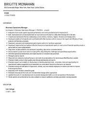 Resume Samples Pdf Business Operations Manager Resume Sample Velvet Jobs Pdf One C 89