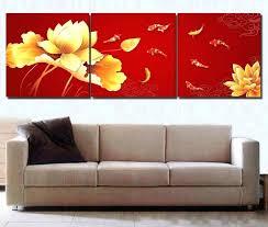 chinese wall art decor elegant fish painting red modern stickers chinese wall art
