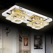 modern square led k9 crystal ceiling lights chandelier