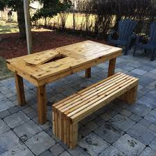 diy patio table bench