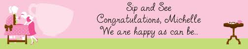 Sip And See Its A Girl Personalized Baby Shower Banners