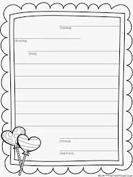 Free Lined Paper For Kids Enchanting FREE Friendly Letter Writing Template With Scaffolding For