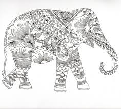 Coloring Pages Elephants Adult Coloring Pages Pdf Elephant