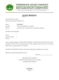Contoh surat rekomendasi adalah surat yang dibuat orang atau lembaga yang berisi keterangan tentang diri anda dan digunakan untuk keperluan. Contoh Surat Mandat Ipnu Pdf Document