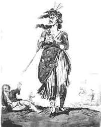 the french revolution in this phase of the revolution women became identified extreme violence either furiously knitting while heads fell or as in this image as terrible