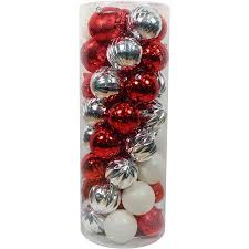 Holiday Time Christmas Ornaments Shatterproof, Set of 50