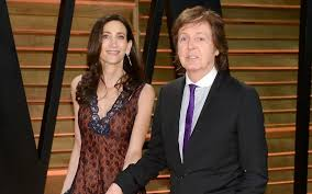 sir paul mccartney and wife nancy shevell attend the 2016 vanity fair oscar party on march