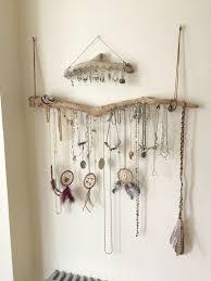 Driftwood Wall Mounted Jewelry Organizer