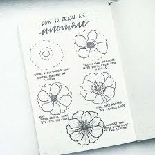 How to draw a lavender flower. How To Draw Easy Flower Doodles For Bullet Journal Spreads