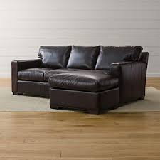 Image Luxury Axis Ii Leather Right Arm Queen Sleeper Lounger Crate And Barrel Leather Sectional Sleeper Sofas Crate And Barrel
