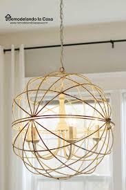 orb chandelier sphere rusty five lighs