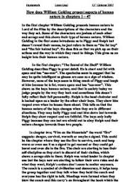 how does william golding present aspects of human nature in the  page 1 zoom in