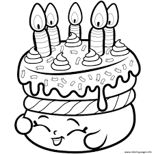 Shopkins Birthday Cake Coloring Pages 12 J Print Wishes Season 1