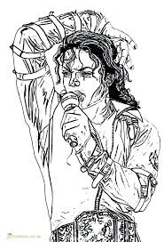 Michael Jackson Smooth Criminal Coloring Pages Or Page Medium Size