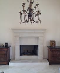 custom cast stone fireplace surround in baton rouge la