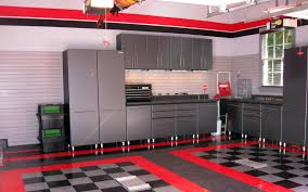 Endearing Home Remodeling Ideas Real House Design Kitchen With Black  Cabinet Along Gray Wall And Glass Window Also Red Tile