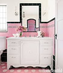 View in gallery Beautiful and girly pink and black bathroom