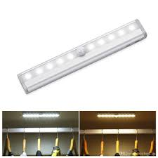 2019 motion sensor closet lights cordless under cabinet lightening stick on anywhere battery operated 10 led night light drawer closet cabinet from