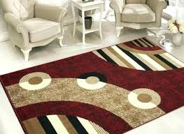 5x7 black and white striped rug red area sweet home s modern circles design