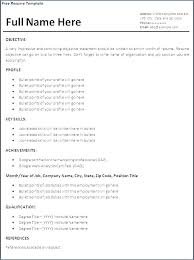 Great Resume Templates For Microsoft Word Fascinating How To Format A Resume In Word Sample Download Examples Cool Free